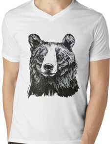 Ink Bear Mens V-Neck T-Shirt