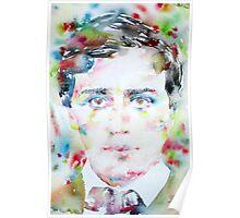 HENRY JAMES - watercolor portrait Poster