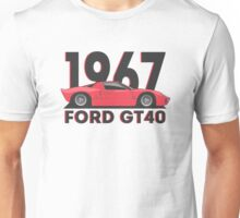 Ford GT40 (Mk1) (red) Unisex T-Shirt