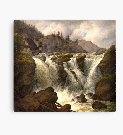 Albert Tides , The Traunfall in Upper Austria Canvas Print