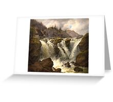 Albert Tides , The Traunfall in Upper Austria Greeting Card