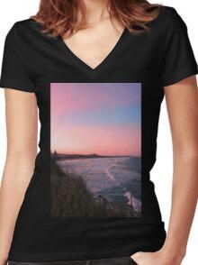 Coolum Beach, Queensland, Australia Women's Fitted V-Neck T-Shirt
