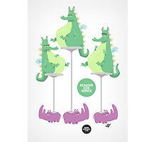 Dragons Ride Rhinos Photographic Print