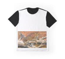 Leopard and cubs resting Graphic T-Shirt