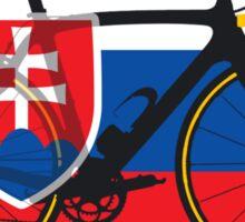 Bike Flag Slovakia (Big - Highlight) Sticker