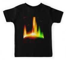 Retro space background Kids Tee