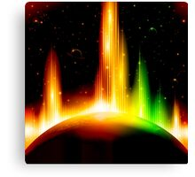Retro space background Canvas Print
