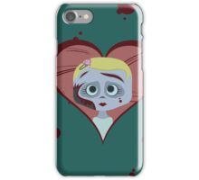 Zombie Girl and Brains iPhone Case/Skin