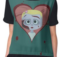 Zombie Girl and Brains Chiffon Top
