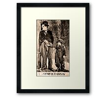 Charlie Chaplin and The Kid Framed Print