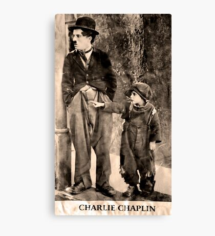 Charlie Chaplin and The Kid Canvas Print