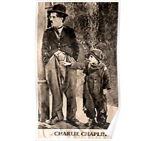 Charlie Chaplin and The Kid Poster