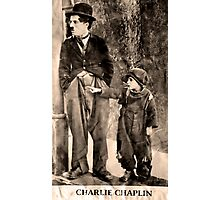 Charlie Chaplin and The Kid Photographic Print