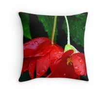 red begonia..  Throw Pillow