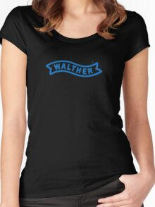 Walther Logo Women's Fitted Scoop T-Shirt