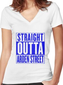 Straight Outta Arden Street Women's Fitted V-Neck T-Shirt