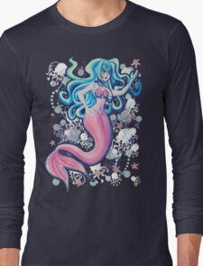 Pink Tailfin Mermaid Long Sleeve T-Shirt