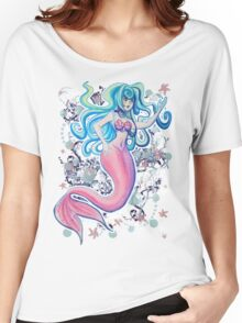Pink Tailfin Mermaid Women's Relaxed Fit T-Shirt