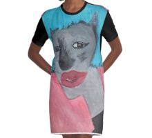 One Cool Cat  Graphic T-Shirt Dress