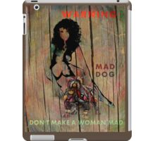 Mad Dog Warning iPad Case/Skin