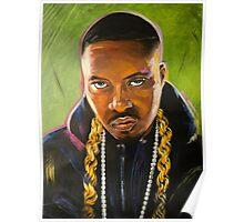 Nas Colorful Portrait Poster