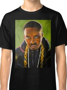 Nas Colorful Portrait Classic T-Shirt