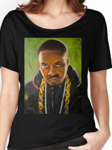 Nas Colorful Portrait Women's Relaxed Fit T-Shirt