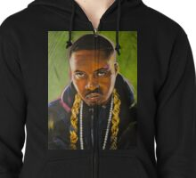 Nas Colorful Portrait Zipped Hoodie