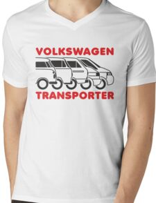 VW Transporter evolution Mens V-Neck T-Shirt