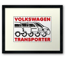VW Transporter evolution Framed Print