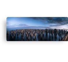 Princes Pier Panorama Blue Canvas Print