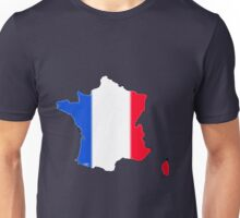 France Map with Flag of France Unisex T-Shirt