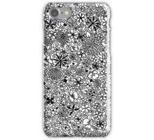 Floral black iPhone Case/Skin
