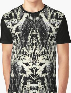 Floral Inkblot Graphic T-Shirt