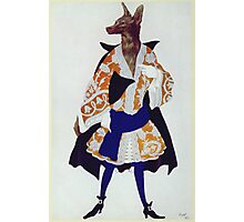 Leon Bakst - The  Wolf. Dancer painting: wolf, ballet, dance, designer, choreography, music, theatre, dancer,  music, dress, costume Photographic Print