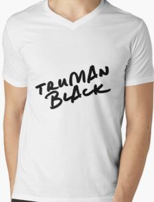 // TRUMAN BLACK // Mens V-Neck T-Shirt
