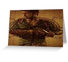 Compass of Uncharted Lands Greeting Card