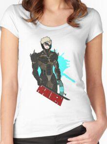 Metal Gear Rising Raiden Women's Fitted Scoop T-Shirt