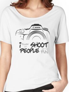 Shoot People for Fun Cartoonist Version (v2) Women's Relaxed Fit T-Shirt