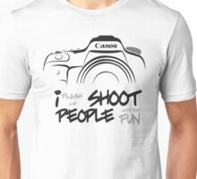 Shoot People for Fun Cartoonist Version (v2) Unisex T-Shirt