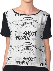 Shoot People for Fun Cartoonist Version (v2) Chiffon Top