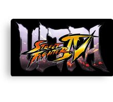 ultra street fighter logo Canvas Print