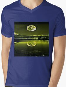 Nights Twilight Yellow Sky Mens V-Neck T-Shirt