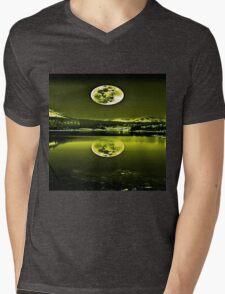 Nights Twilight Yellow Sky Mens V-Neck T-Shirt