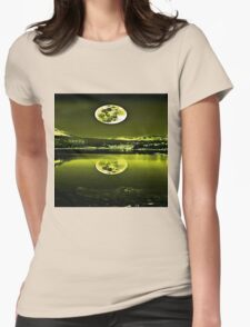 Nights Twilight Yellow Sky Womens Fitted T-Shirt