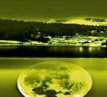 Nights Twilight Yellow Sky Sticker