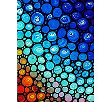Abstract 2 - Colorful Mosaic Art blue Aqua Red Photographic Print