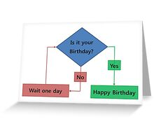 Everlasting Birthday Flowchart Greeting Card