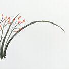 Orange Flowering Grass by George Hunter
