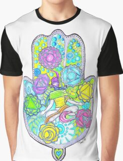 Chakras and the Hand of Fatima Graphic T-Shirt